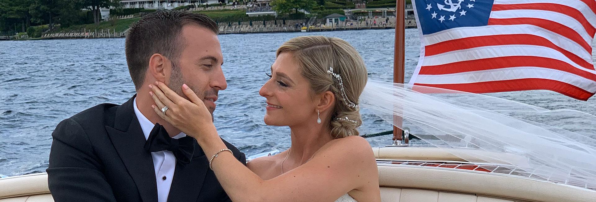 Wedding photo shoot aboard the Miss Boathouse